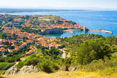Collioure harbour, Languedoc-Roussillon, France, french catalan coast Royalty Free Stock Photos