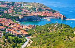Collioure harbour, Languedoc-Roussillon, France, french catalan coast Royalty Free Stock Images