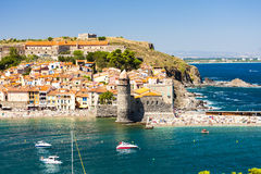 Collioure, Languedoc-Roussillon, France stock image