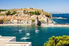 Collioure, Linguadoca-Rossiglione, Francia Immagine Stock Libera da Diritti