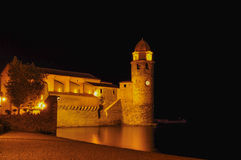 Collioure by night Royalty Free Stock Images