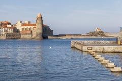 Collioure, Occitanie, Франция стоковая фотография