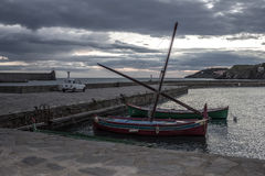 Collioure port in the morning Royalty Free Stock Images