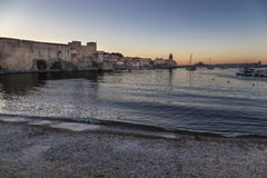 Collioure and the Royal castle in the Vermilion coast, France Royalty Free Stock Photo