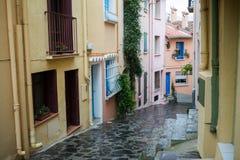 Collioure street Stock Photos