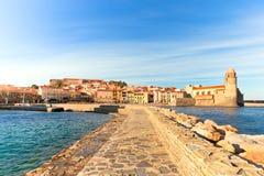Collioure, sud della Francia Immagini Stock Libere da Diritti