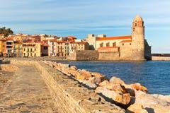 Collioure, sul de France Imagem de Stock