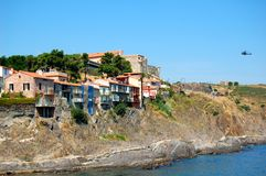 Collioure, sul de France Fotografia de Stock Royalty Free