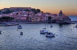 Collioure in the Vermilion coast, France Royalty Free Stock Photos