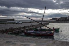 Colliourehaven in de ochtend Royalty-vrije Stock Afbeeldingen