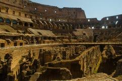 Colliseum från insidan Arkivfoto