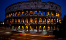 Colliseum at night. Coloseum at nisght in vivid and complementary colors Royalty Free Stock Photo
