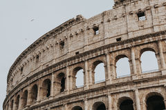 Colliseum in Rome, Italy. Roman Coliseum view with a grey ski background Stock Photo
