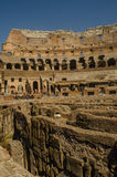 Colliseum showing sub-surface hallways. Colosseum showing interior hallways and passageways Royalty Free Stock Photos