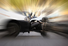 Collision. Between car and motorcycle