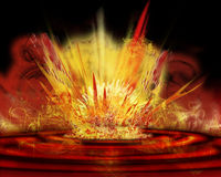 Collision. Impressive background. meteor impact. fire like hell Royalty Free Stock Images