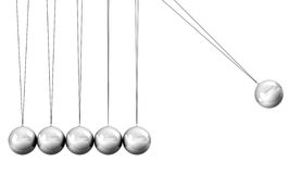 Collision Balls close up. On white background stock image