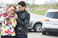 Collision d'accident de voiture Images libres de droits