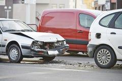 Collision d'accident de voiture image libre de droits