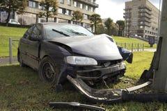 Collision de voiture images stock
