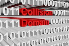 Collision domain. In the form of binary code, 3D illustration Stock Photos