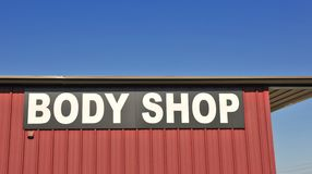 Collision Repair and Body Shop Service sign Royalty Free Stock Photography