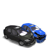 Collision of two cars Royalty Free Stock Photos