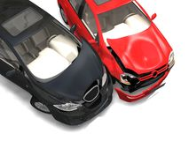 Collision of two cars Royalty Free Stock Images