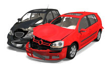 Collision of two cars Royalty Free Stock Photo