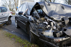 Collision between two cars. Accident Stock Images