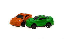 Collision of two cars Royalty Free Stock Photography