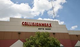 Collision Worx Auto Body Center Royalty Free Stock Image
