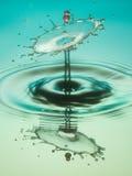 Collisione della goccia di acqua Fotografie Stock Libere da Diritti