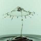 Collisione della goccia di acqua Fotografia Stock Libera da Diritti