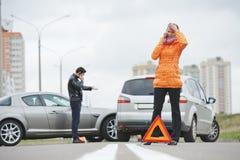 Collisione di incidente stradale Fotografia Stock Libera da Diritti