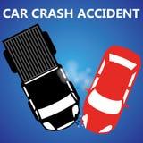Collisione laterale di incidente stradale Fotografie Stock