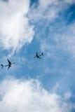 Collission de los aviones - accidente de aviación Imagen de archivo libre de regalías