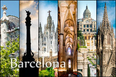 Colllage Barcelona Stock Images
