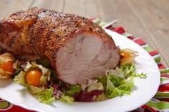 Collo arrostito della carne di maiale fotografia stock libera da diritti