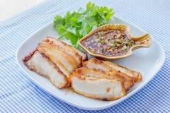collo Carbone-bollito della carne di maiale Immagini Stock
