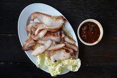 Collo della carne di maiale grigliato Immagine Stock Libera da Diritti