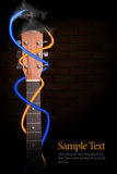 Collo della chitarra acustica Fotografia Stock