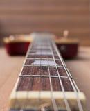 Collo della chitarra elettrica Fotografie Stock Libere da Diritti