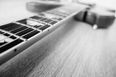 Collo della chitarra elettrica Fotografia Stock