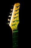 Collo della chitarra nello scuro Fotografia Stock Libera da Diritti