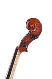 Collo e rotolo del violino Fotografia Stock