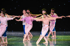 Collocation for men and women-The Yellow River-Group dance. Graduation performance of class5, grade 11, dancing department,Jiangxi Vocational Academy of Art on Royalty Free Stock Photos