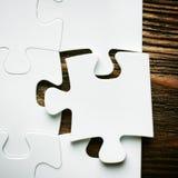 Collocazione mancando un pezzo di puzzle Concetto di affari Fotografia Stock