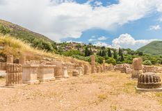 Collonade of gymnasium in Ancient Messina Stock Image