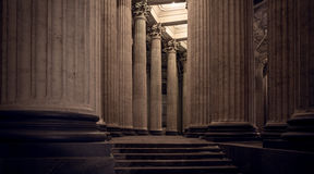 Collonade of Kazan Cathedral at night, St. Petersburg Stock Photo